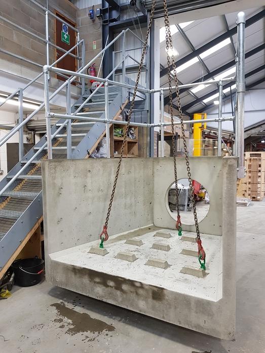 Precast Headwall with Diffuser Blocks