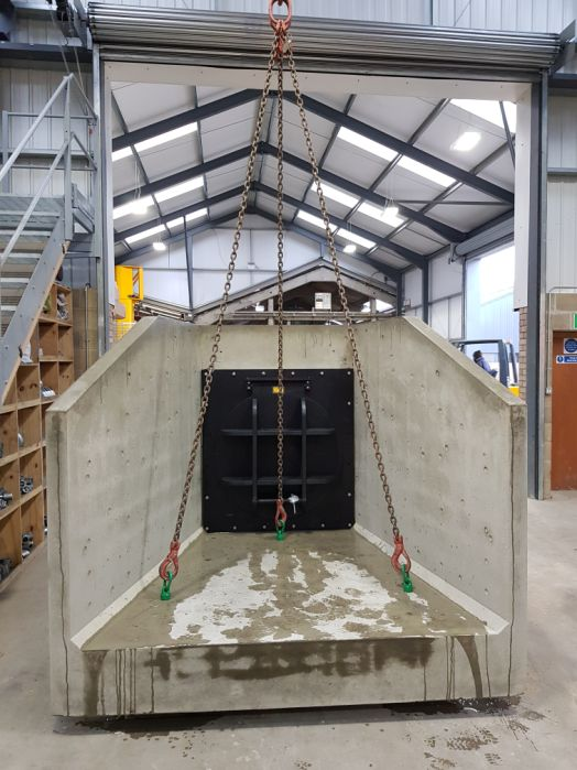 Precast Headwall with HDPE Flap Valve