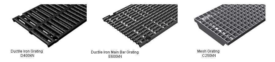 300mm Shallow Drainage Channel gratings