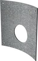 250mm Galvanised Steel Curved Orifice Plate