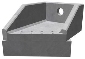 RSFA12A LH Angled Headwall