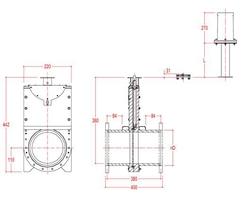 100mm Inline Penstock