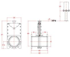 125mm Inline Penstock