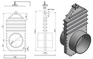 600mm Inline Penstock