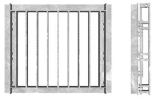 SFA Outfall Safety Grille Type 1