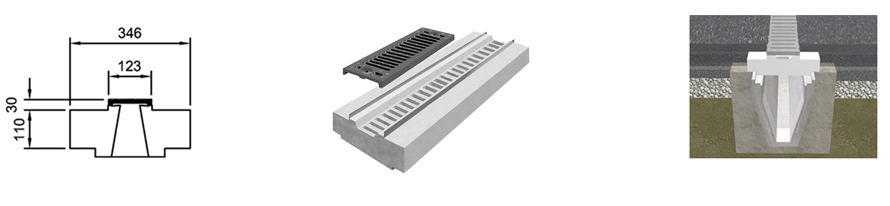 Standard Stilpro 150 line drawing