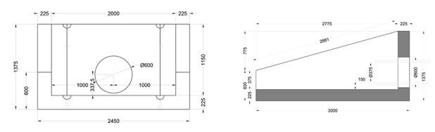 XLR 25 Headwall line drawing